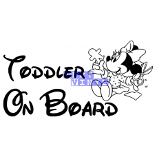 Toddler on Board - Minnie