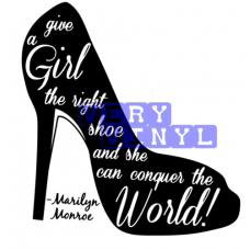 Marilyn Monroe Give the Girl the Right Shoe -- Take Over the World
