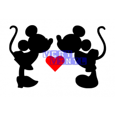 Mickey & Minnie Mouse Love Heart